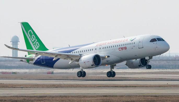 Китайский узкофюзеляжный самолет C919