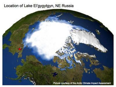 ����� ����������� ����������� � 100 �� � ������ �� ��������� ��������� ����� (��������: Arctic Climate Impact Assessment)