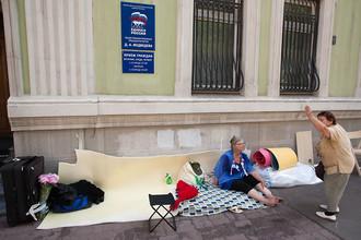 В Москве продолжается голодовка многодетных матерей- Екатерины Мальдон, Оксаны Рыжковой и Ирины Калмыковой