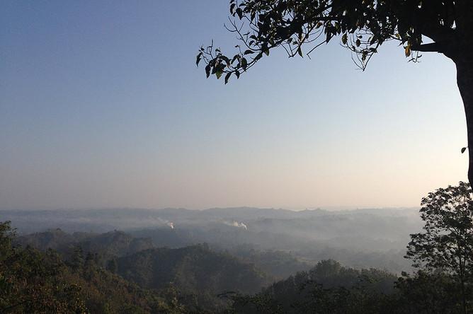 Небо Бангладеш на рассвете