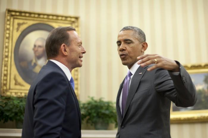 Премьер Австралии Тони Эббот и президент США Барак Обама