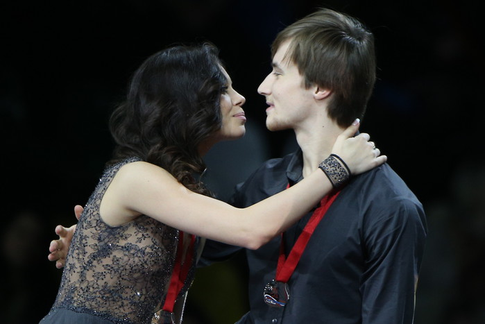 Танцоры Елена Ильиных и Руслан Жиганшин на церемонии награждения...