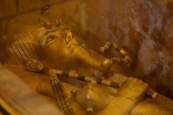Саркофаг Тутанхамона в Долине Царей в Луксоре, 28 ноября 2015 года