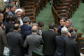 Глава европейской дипломатии Федерика Могерини в парламенте Ирана в Тегеране, 5 августа 2017 года