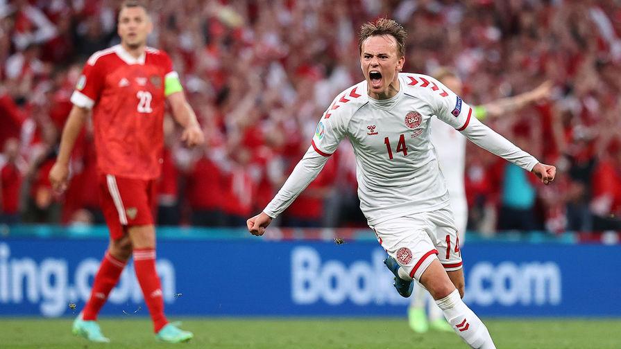 Дания поразила ворота сборной России первым ударом в створ