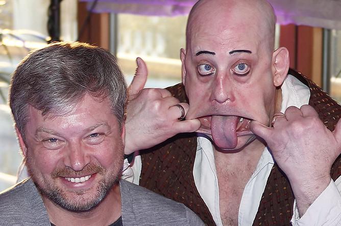 Валдис Пельш и клоун Питер Питофски, 2013 год