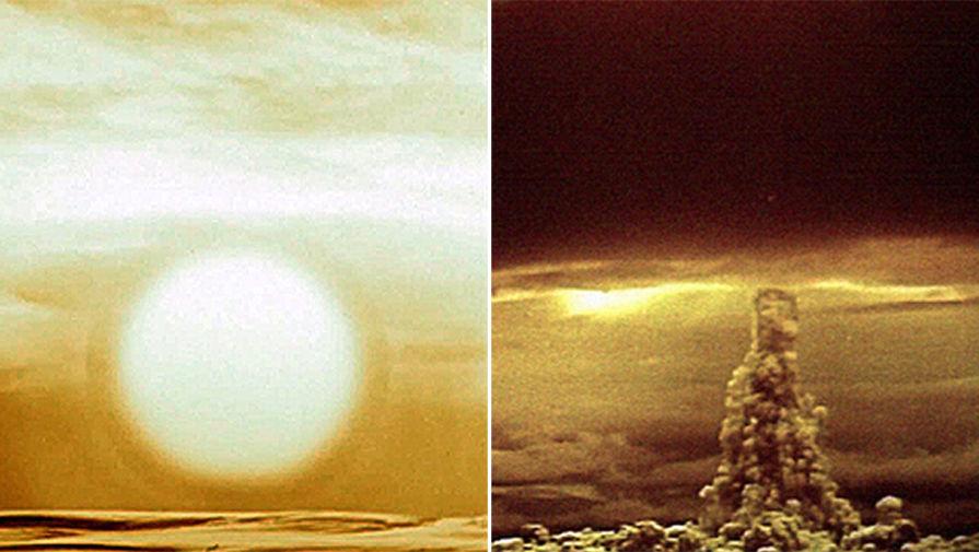 Испытание водородной бомбы в СССР. В августе 1953 года, в СССР впервые испытали водородную бомбу. В принцип ее создания легли идеи, изложенные ученым-физиком Андреем Сахаровым. «На днях в испытательных целях был произведен взрыв одного из видов водородной бомбы. Испытание показало, что мощность бомбы во много раз превосходит мощность атомных бомб», — такое сообщение 20 августа 1953 года появилось в «Правде». Страшное оружие, которое, тем не менее, сыграло свою роль в сохранении мира. На фото: испытания «Царь-бомбы» АН602 на Новой Земле, 30 октября 1961 года