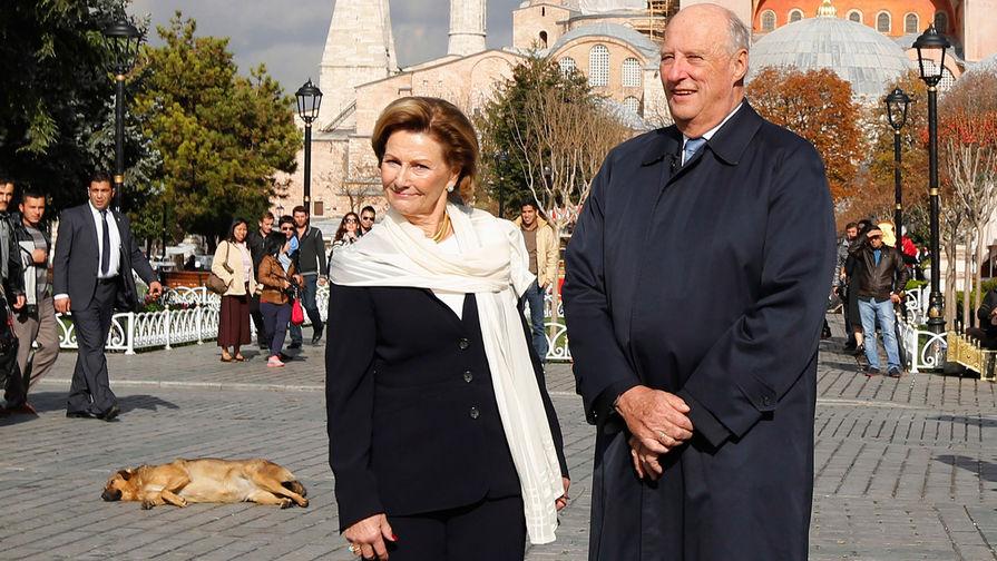 Король Норвегии Харальд и королева Соня в Стамбуле, 2013 год