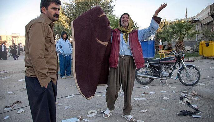 Последствия землетрясения в иранском городе Сере-Поле-Зохаб, 13 ноября 2017 года