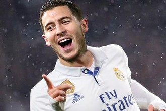 Эден Азар в футболке «Реала»