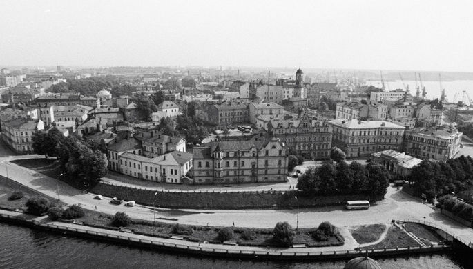 Вид на город Выборг, 1977 год