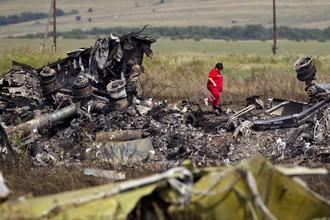 Место крушения Boeing на Украине
