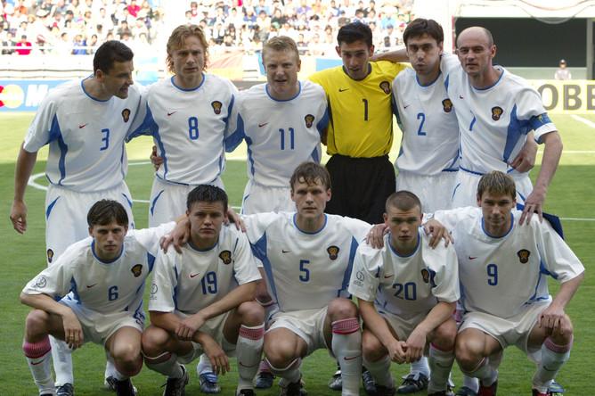 Марат Измайлов в составе сборной России на чемпионате мира 2002 года