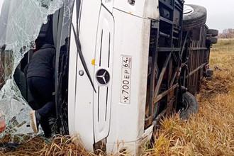 Ошибка водителя: автобус с туристами попал в ДТП