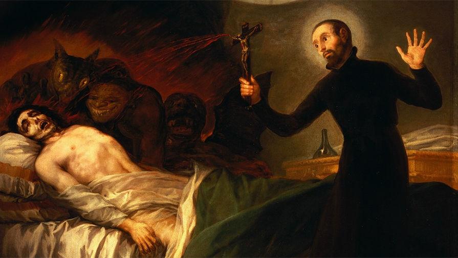 «Святой Франциск Борджиа изгоняет демонов из умирающего», 1788 год