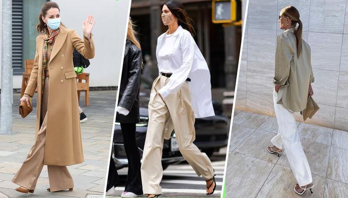 «От скинни все устали»: стилисты объяснили моду на широкие штаны