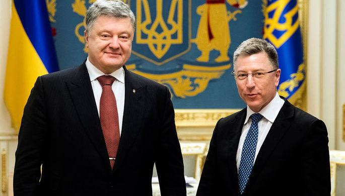 Президент Украины Петр Порошенко во время встречи со специальным представителем США по Украине Куртом Волкером, 2018 год
