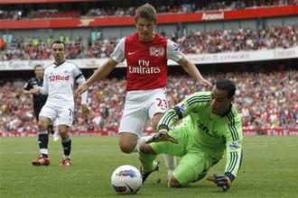 Андрей Аршавин был одним из самых активных игроков «Арсенала» в матче против «Суонси»