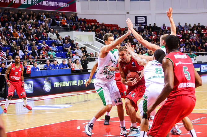 Краснодарский «Локомотив-Кубань» добился шестой победы подряд в баскетбольном Еврокубке