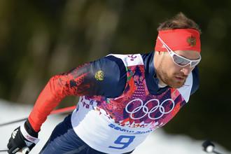 Алексей Петухов на олимпийской лыжне
