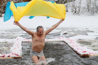 Крещенские купания в Киеве, 19 января 2018 года