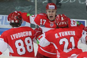 Артем Воронин забросил первую шайбу за «Спартак»