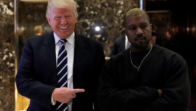 Президент США Дональд Трамп и американский рэпер Канье Уэст