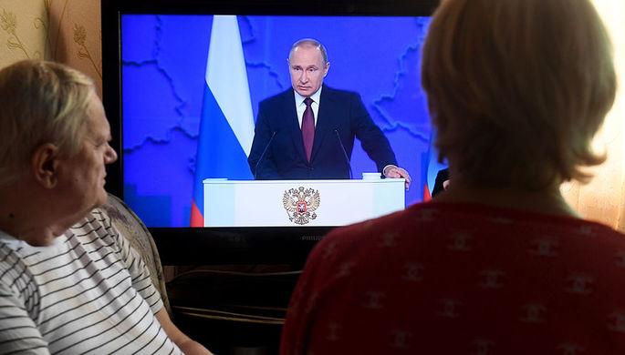 Телевизионная трансляция ежегодного послания президента России Владимира Путина к Федеральному собранию, 20 февраля 2019 года