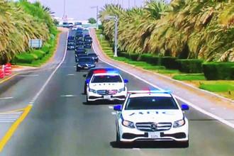 «Знак внимания»: какие машины сопровождали Путина в ОАЭ