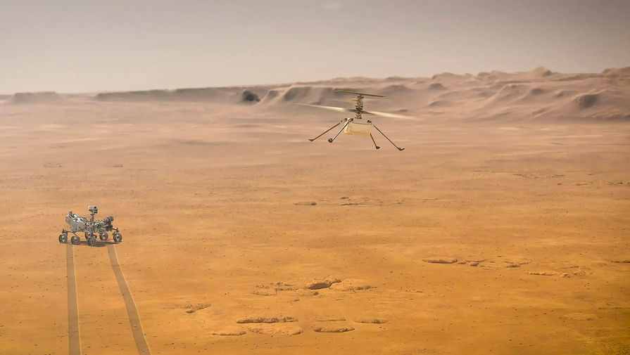 Вертолет NASA впервые переместился на новое место на Марсе