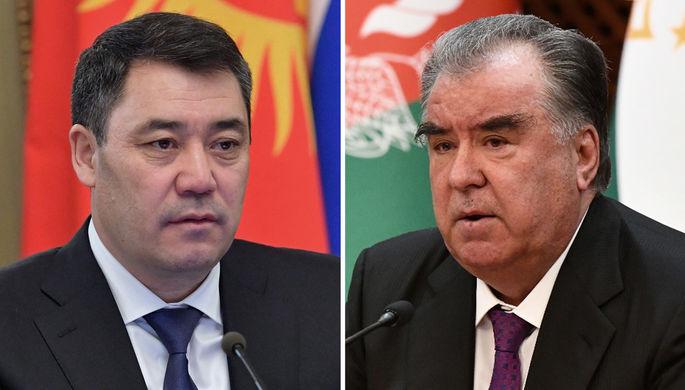 Садыр Жапаров и Эмомали Рахмон