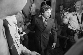 Режиссер Роман Полански покидает суд в Санта-Монике, Калифорния, сентябрь 1977 года