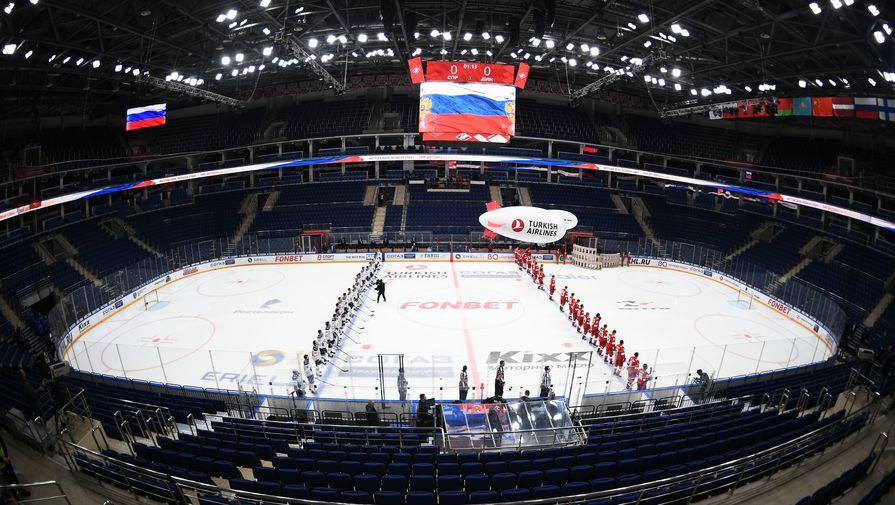 Матч КХЛ «Спартак» — «Динамо» при пустых трибунах