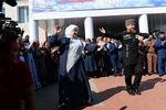Рамзан Кадыров вединый день голосования наизбирательном участке №165вселе Центарой. Вцентре- мать Рамзана Кадырова Аймани Кадырова, 2016год