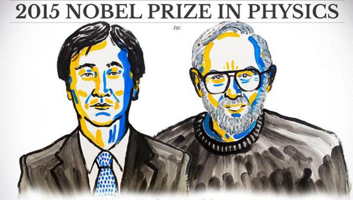 Лауреаты Нобелевской премии по физике 2015 года Такааки Кадзита (слева) и Артур Макдональд. Источник: nobelprize.org