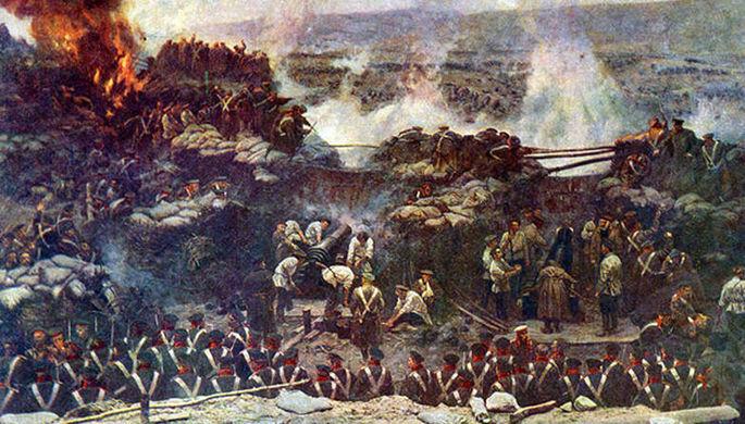 Деталь панорамы Франца Рубо «Оборона Севастополя» (1904)