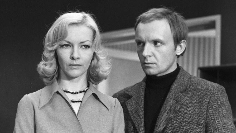 Барбара Брыльска и Андрей Мягков на съемках фильма «Ирония судьбы», 1975 год