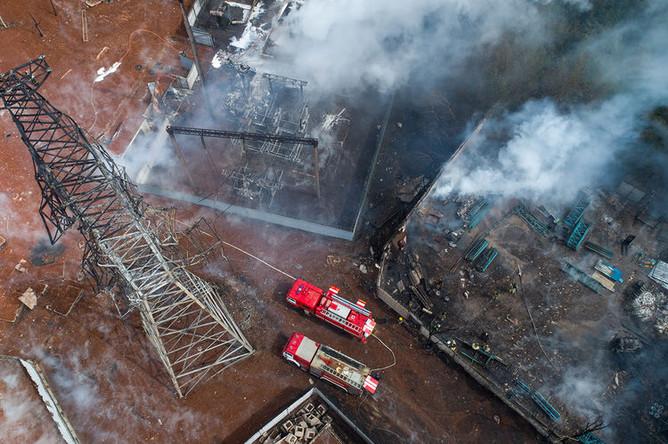 Пожар на территории ТЭЦ в подмосковных Мытищах, 11 июля 2019 года
