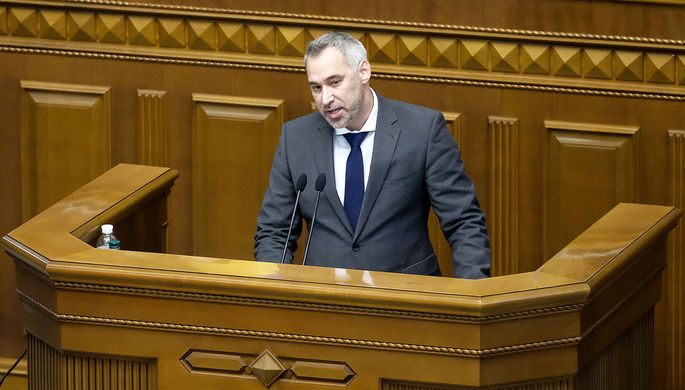 Генпрокурор Украины Руслан Рябошапка на внеочередном заседании Верховной рады по вопросу о его отставке, 5 марта 2020 года