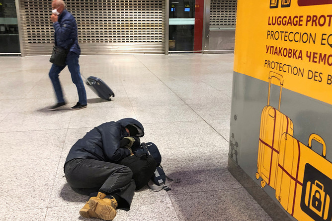 Ситуация в аэропорту Малаги, Испания, 17 марта 2020 года