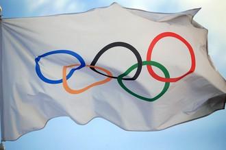 Флаг с эмблемой олимпийского движения