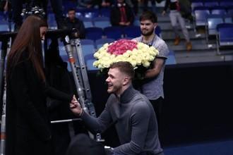 Баскетболист Андрей Зубков сделал предложение своей девушке во время матча Евролиги