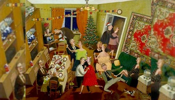 Праздник для художников: 10 картин про Новый год