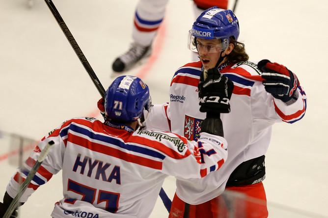 Хоккеисты сборной Чехии в третьем матче на Евротуре против российской команды