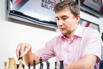 Российский гроссмейстер Сергей Карякин на турнире в Сент-Луисе