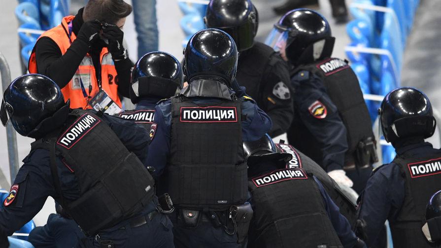 Полиция на матче «Зенит» — «Спартак»