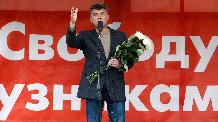 Борис Немцов во время акции протеста в Москве, май 2013 года