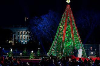 Церемония зажжения рождественской елки у Белого дома, 28 ноября 2018 года