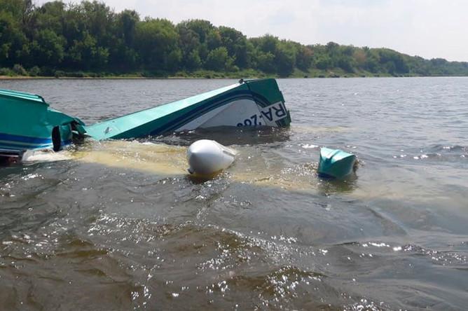 Легкомоторный самолет, потерпевший крушение в Серпуховском районе Подмосковья, 27 июля 2019 года