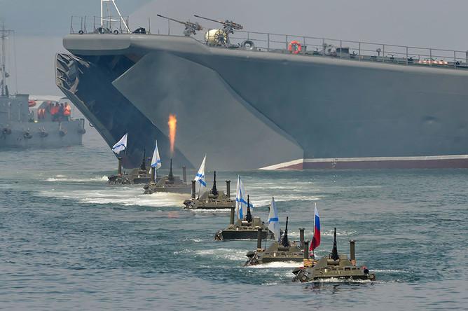 Празднование Дня Военно-морского флота РФ во Владивостоке